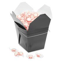 Paquete De 50 Cajas Negras Para Comida China Con Asa 64oz
