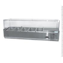Vitrina Refrigerada Ensalada Pizza Sobre Mesa 1200x335x426mm