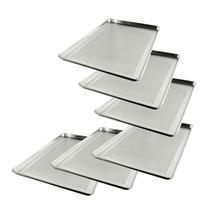 Choice Paquete 6 Charolas Perforada Aluminio Pastel Pan