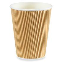 500 Vasos Termicos Aislantes Ondulado Cafe Cafeterias 12 Oz