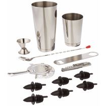 Kit Bartending Set 13 Pz Bar Profesional Barman Coctel Bar