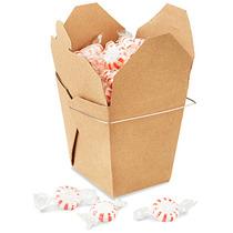 Paquete De 100 Cajas Kraft Para Comida China Con Asa 32oz