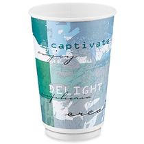 384 Vasos Termicos Aislantes Para Cafe O Cafeterias De 16 Oz