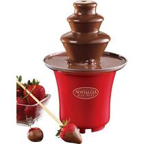 Nostalgia-electricidad-mini-chocolate Fuente-rojo-marrón