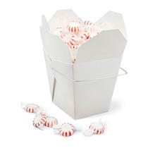 Paquete De 100 Cajas Blancas Para Comida China Con Asa 26oz