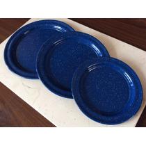 Plato Base 26 Centimetros Nueva Moda En Tu Mesa Azul Nevado