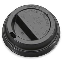 1000 Tapas Negras Para Vaso Termico 8 Oz Cafe O Cafeterias