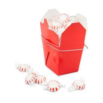 Paquete De 100 Cajas Rojas Para Comida China Con Asa 8oz
