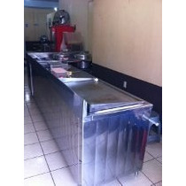 Muebles Con Planchas, De Acero Inoxidable Para Restaurante