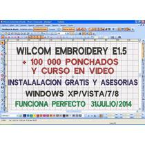 Wilcom E1.5 + 100 000 Ponchados Instalacion Gratis Y Videos