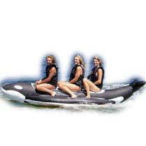 Banana Diseño Orca Inflable Playa 3 Personas