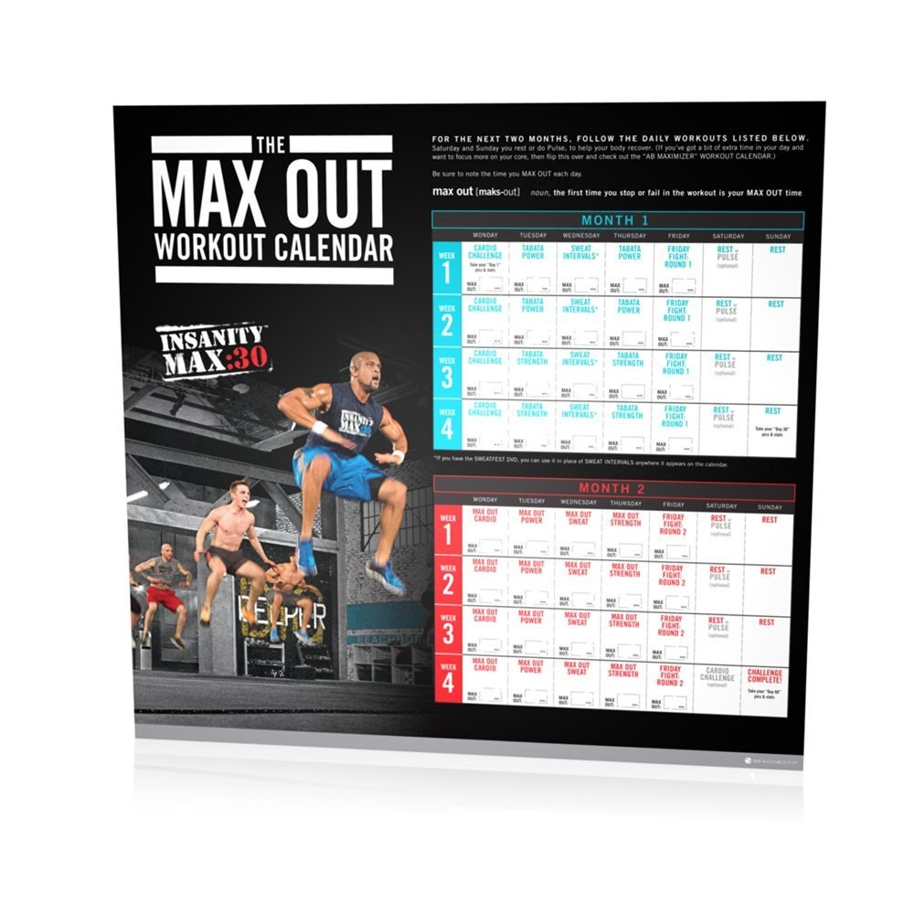 1000 x 1000 jpeg 158kB, Tapout Workout Calendar Jpeg/page/2 | New ...