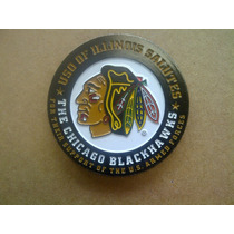 Challenge Coin Moneda Chicago Blackhawks Apoyo Militar
