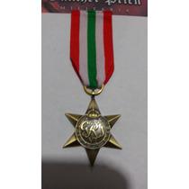 Medalla Estrella De Italia Británica Segunda Guerra Réplica
