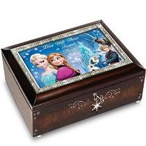 Disney Congelado Marrón Caja De Música Toca La Melodía De L