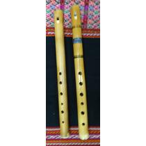 Pin-quenas De Bambu, Originales De Bolivia