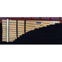 Zampoña Cromática De 3 Filas. Instrumento Musical De Viento