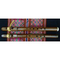 Flauta Cherokee De Madera Jacaranda