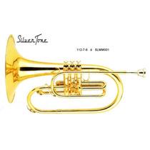 Silvertone Melofono De Marcha Laqueado 3 Embolos F ( Fa )