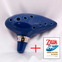 Ocarina Réplica Legenda De Zelda Ocarina Of Time Ceramica