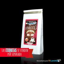 Bolsa Metalizada Para Café Papel Blanco,cap. 250g, $x100 Pz
