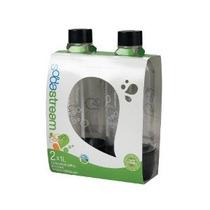 Sodastream 1l Carbonatado Botellas De Negro (twin Pack)