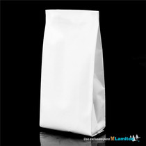 Bolsa Para Café,alimentos Papel Blanco,cap. 250g, $ X 100 Pz