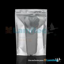 Bolsa P/alimentos S. U. P. Metalizada Plata 454g $ X 100 Pz