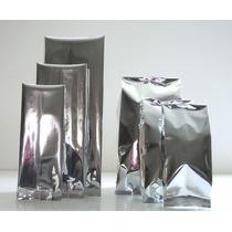 Bolsas Metalizada Con Fuelle 9x24cm Paquete Con 100 Piezas