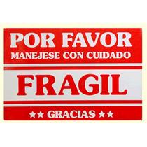Etiqueta Fragil Proteccion Paquete 10 Piezas Empaque Envio