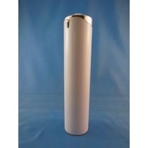 Envase De Plastico Dosificador De Lujo De 120ml Blanco/cromo
