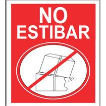 Etiquetas No Estibar Para Cajas De Cartón Corrugado Empaque