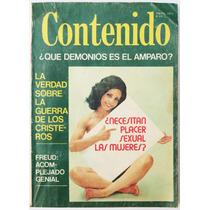 Revista Contenido ¿necesitan Placer Sexual Las Mujeres? 1977