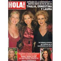 Revista Hola En Portada:thalia Y Sus Hermanas (2012) $80.00