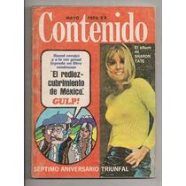 Revista Contenido Sharon Tate Marco A Almazán 1970