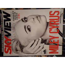 Revista Sky View Portada Miley Cyrus De Coleccion