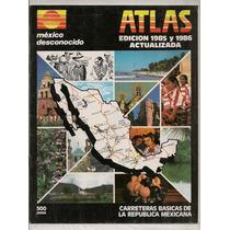 Revista Turismo México Desconocido Mapas Carreteras 1985-86