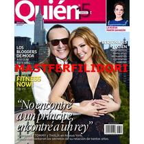 Thalia & Tommy Mottola Revista Quien De Enero 2014