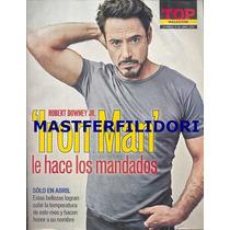 Robert Downey Jr Revista Top Magazzine Abril 2013