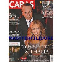 Thalia & Tommy Mottola Revista Caras Marzo 2015