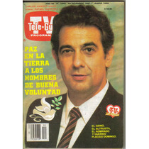 Tele-guia En Portada: Placido Domingo. (año-1988) $100.00