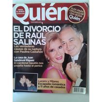 Revista Quien El Divorcio De Raul Salinas Fn4