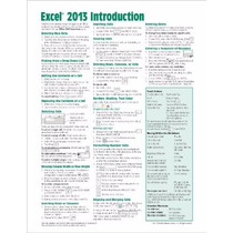 Libro Microsoft Excel 2013 Introduction Quick Reference G.