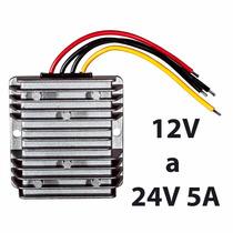 Convertidor De Voltaje 12v A 24v 5a