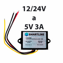 Convertidor De Voltaje 24v / 12v A 5v, Inversor De Corriente
