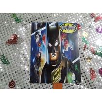 12 Invitaciones Tipo Abanico Batman