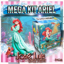Ariel La Sirenita Invitaciones Kit Imprimible Jose Luis