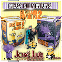 Minions Invitaciones Cajitas Cartel Kit Imprimible Jose Luis