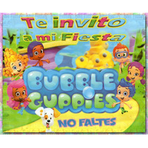 Invitaciones Bubble Guppies C/sobre (paq.20 Piezas)