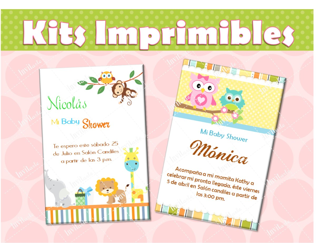 invitaciones baby shower kit listo para imprimir 16742 mlm20126252476